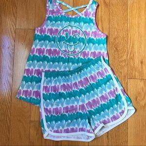 NWOT Girls tie-dye size 7/8 shorts/tank set